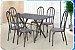 Conjunto De Mesa Artefamol Deise 6 Cadeiras Preta - Imagem 3