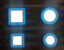 Luminária Plafon Neon Led Embutir Quadrado Borda Azul 3+3W - Imagem 3