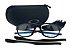Armação Oakley Crosslink Preto Fosco/Azul - Imagem 4