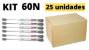Kit 25 unidades Pistão a gás (força normal) para móveis 60N - DMT - Imagem 2
