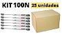 Kit 25 unidades Pistão a gás (força normal) para móveis 100N - DMT - Imagem 2