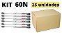 Kit 25 unidades Pistão a gás (força inversa) para móveis 60N - DMT - Imagem 2