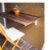 Suporte Dobrável para mesa de parede ou prateleira 30cm Branco - Imagem 3