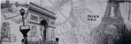 TELA DE CANVAS FRANCE - PARIS - Imagem 1