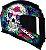 CAPACETE AXXIS EAGLE SKULL GLOSS BLACK/BLUE - Imagem 6