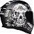 CAPACETE AXXIS EAGLE SKULL MATT BLACK/GREY - Imagem 5