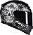 COMBO CAPACETE AXXIS EAGLE SKULL MATT BLACK/GREY E VISEIRA FUMÊ - Imagem 4