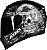 COMBO CAPACETE AXXIS EAGLE SKULL MATT BLACK/GREY E VISEIRA FUMÊ - Imagem 2