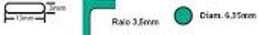Furador Multifuncional 3x1 - Canto, Redondo e Ovoide - Imagem 2