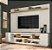 Home sd06-rack jpe brud painel qua 2,20 mts laca off white/freijo - Imagem 1