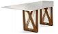 Mesa de jantar sd03- tram bru retangular (design moderno) - Imagem 3