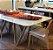 Mesa de jantar sd03- tram bru retangular (design moderno) - Imagem 2