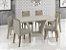 Mesa de Jantar com 6 cadeiras Laca Off White - Imagem 2