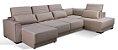 Sofa sd02 mo-fmrt modelo brg com chaise 3,70x 2,30 mts + carregador usb - Imagem 4