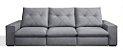 Sofá Retrátil e Articulado Mega Conforto molas ensacadas com 3 Módulos - Imagem 2