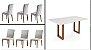 Conjunto Mesa de Jantar 180x100 + 06 cadeiras - Imagem 2