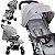 Carrinho de Bebe Compacto Chicco Ohlala 3 Light Grey Cinza - Imagem 4