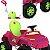 Carrinho Passeio Pedal Reclinavel Bandeirante Superjipe Pink - Imagem 4