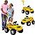 Carrinho de Passeio e Pedal Bandeirante Banjipe Amarelo - Imagem 2