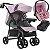 Carrinho de Bebe Tutti Baby Nivo com Bebe Conforto Base Rosa - Imagem 1