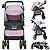 Carrinho de Bebe Tutti Baby Nivo com Bebe Conforto Base Rosa - Imagem 2
