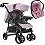 Carrinho de Bebe Tutti Baby Nivo Rosa com Bebe Conforto - Imagem 1