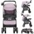 Carrinho de Bebe Passeio Reversivel Tutti Baby Nivo Rosa - Imagem 2