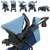 Carrinho de Bebe Tutti Baby Nivo com Bebe Conforto Base Azul - Imagem 3