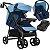 Carrinho de Bebe Tutti Baby Nivo com Bebe Conforto Base Azul - Imagem 1
