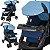 Carrinho de Bebe Tutti Baby Nivo Azul com Bebe Conforto - Imagem 4
