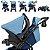 Carrinho de Bebe Tutti Baby Nivo Azul com Bebe Conforto - Imagem 3