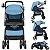 Carrinho de Bebe Tutti Baby Nivo Azul com Bebe Conforto - Imagem 2