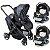 Carrinho de Bebe Gemeos 2 Bebe Conforto e Base Chicco Fully Twin Stone - Imagem 1