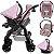 Carrinho de Bebe com Bebe Conforto Tutti Baby Upper Rosa - Imagem 3
