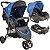 Carrinho de Bebe Bebe Conforto e Base Kiddo Trio Azul - Imagem 1