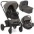 Carrinho de Bebe com Bebe Conforto e Moises Joie Chrome Foggy Grey Cinza - Imagem 1