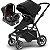 Carrinho de Bebe Sleek Thule com Bebe Conforto e Base Citi Maxi Cosi Preto - Imagem 1