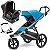 Carrinho de Bebe Urban Glide 2 Azul com Bebe Conforto Citi Maxi Cosi Preto - Imagem 1