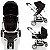 Carrinho de Bebe Bebe Conforto e Base Infanti Sky Black Classic Preto - Imagem 4