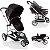 Carrinho de Bebe Bebe Conforto e Base Infanti Sky Black Classic Preto - Imagem 3