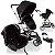 Carrinho de Bebe Bebe Conforto e Base Infanti Sky Black Classic Preto - Imagem 2