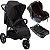 Carrinho de Bebe Infanti Collina com Bebe Conforto e Base Preto Black Style - Imagem 1