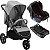 Carrinho de Bebe Infanti Collina com Bebe Conforto e Base Cinza Grey Style - Imagem 1