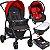 Carrinho de Bebe Bebe Conforto Base e Ninho Burigotto Ecco Cinza Vermelho - Imagem 1