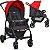 Carrinho de Bebe com Bebe Conforto e Base Burigotto Ecco Cinza Vermelho - Imagem 2