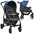 Carrinho de Bebe com Bebe Conforto e Ninho Burigotto Ecco Cinza Azul - Imagem 2