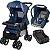 Carrinho Passeio Bebe Conforto Base Tutti Baby Upper Azul  - Imagem 1