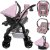 Carrinho Passeio Bebe Conforto Base Tutti Baby Upper Rosa - Imagem 4