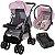 Carrinho Passeio Bebe Conforto Base Tutti Baby Upper Rosa - Imagem 1