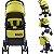 Carrinho de Bebe Passeio Kangalup Easy F1 Amarelo - Imagem 2